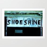 Shoe Shine  Art Print