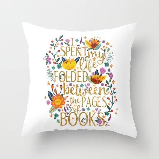 Folded Between the Pages of Books | Bookish Throw Pillows