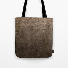 Antique Brass Camo Abstract Low Polygon Background Tote Bag