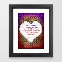 The Strength Of My Heart Framed Art Print