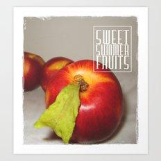 Sweet summer fruits (Nectarines) Art Print