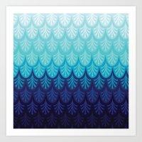 Arctic Ombre! Art Print