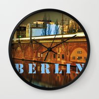 NIGHTTRAIN - RIVERSIDE - BERLIN Wall Clock