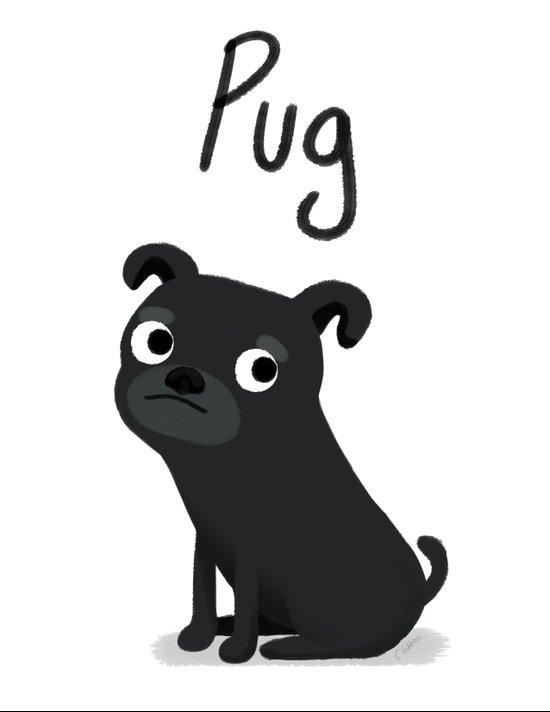 Pug - Cute Dog Series Canvas Print