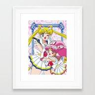 Sailor Moon And Chibi Mo… Framed Art Print