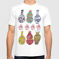 Chinese Pots Mens Fitted Tee White SMALL