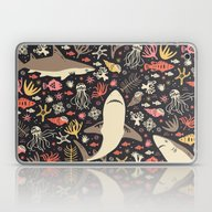 Laptop & iPad Skin featuring Oceanica by Anna Deegan