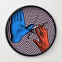 Crash Hand Wall Clock