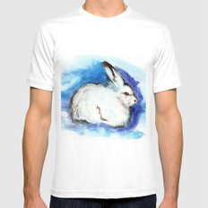 Grumpy Artic Hare Mens Fitted Tee White SMALL