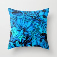 Days Blue By Throw Pillow