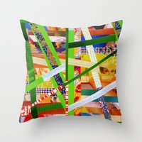 Lisa (stripes 11) Throw Pillow