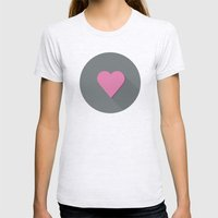 Flat Heart Womens Fitted Tee Ash Grey SMALL