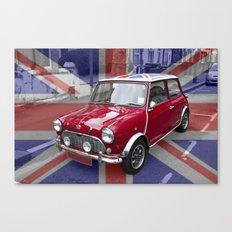 British Classic Mini car Canvas Print