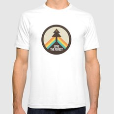 For the Love of the Forest SMALL Mens Fitted Tee White