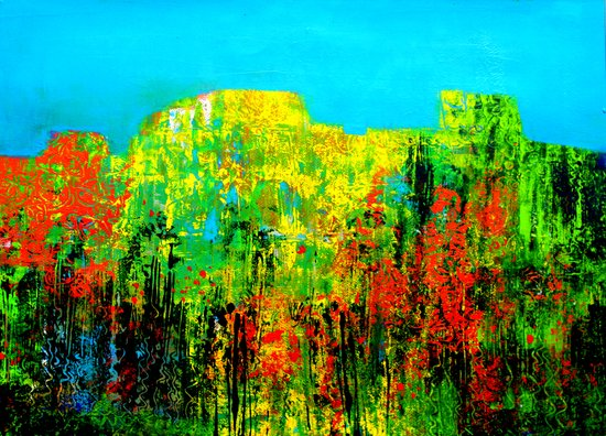 the mountains' flora Art Print