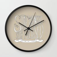 Stay Hungry, Stay Focused Wall Clock