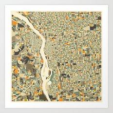 PORTLAND Map Art Print