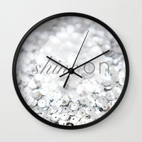Shine ON Typography Print Wall Clock