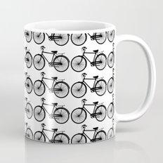 Black Bicycle Pattern Mug