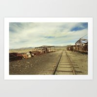 Forgotten Trains Art Print