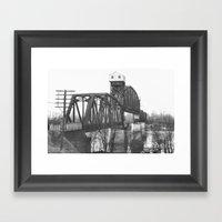 Railroad Bridge Over The… Framed Art Print
