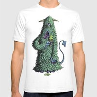 Id Monster Mens Fitted Tee White SMALL