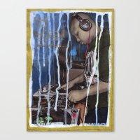 DEAD RAPPERS SERIES - Dj… Canvas Print