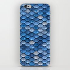 Blue sparkling Scales pattern iPhone & iPod Skin