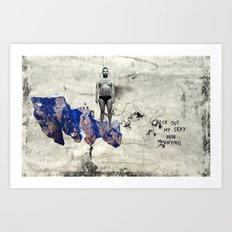Sexy Man Mountain Art Print