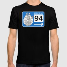 Docking Bay 94 Black SMALL Mens Fitted Tee