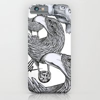 iPhone & iPod Case featuring vultures and crows by Mr.Klevra
