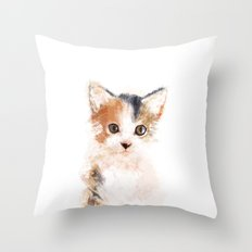 Baby Cat, Mio Throw Pillow
