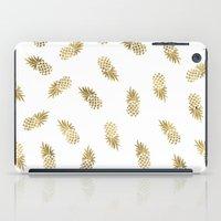 Gold Pineapples iPad Case