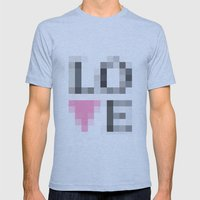 Exaggerated Pixelated LO… Mens Fitted Tee Athletic Blue SMALL