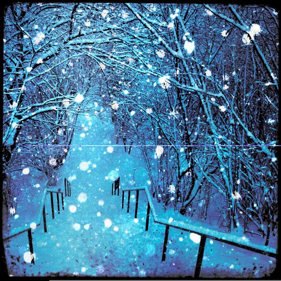 the blues of winter Art Print