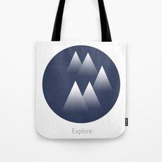 Explore/Mountains Tote Bag