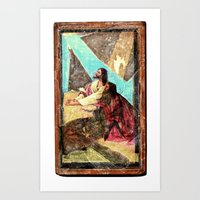 double jesus Art Print