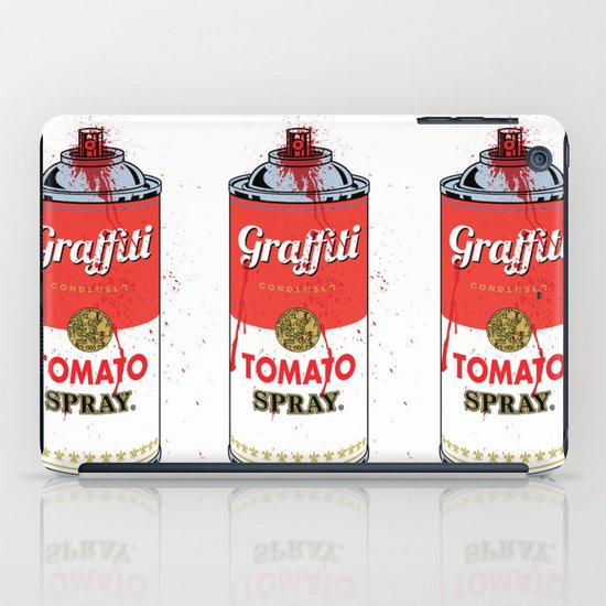 Graffiti Tomato Spray Can iPad Case