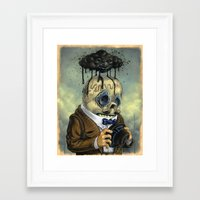 Bad Calavera Time Framed Art Print