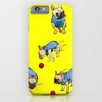 French bulldog playing with a basketball iPhone 6 Slim Case
