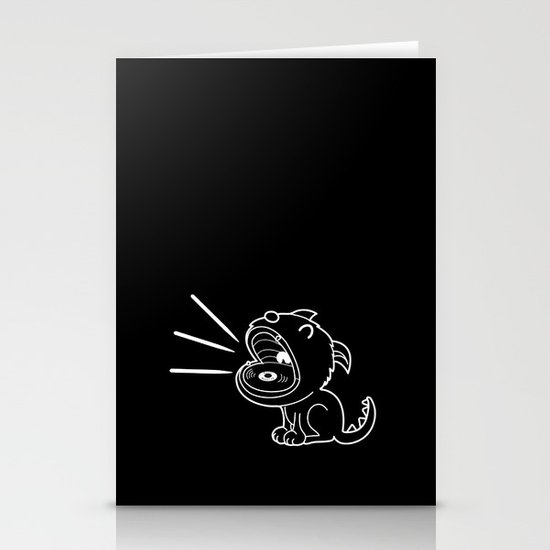 Music Monster  Stationery Card
