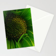 Green Daisy  Stationery Cards
