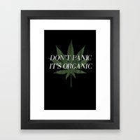 Don't Panic it's Organic Vintage Potleaf Print Framed Art Print