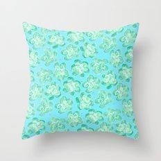 Wallflower - Tea Teal Throw Pillow