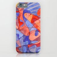 iPhone & iPod Case featuring Red Doodle by Libby Brown