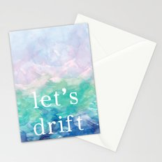 Let's Drift in a Watercolor Stationery Cards