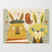 Frederic, Percy And Maxw… Canvas Print
