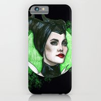 iPhone & iPod Case featuring MALEFICENT by ArtEleanor
