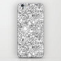 Infinity Robots Black & … iPhone & iPod Skin