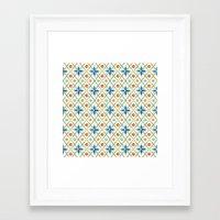 Millefiori Heraldic Lattice Framed Art Print